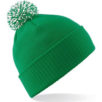 Accessoires textile Fille Bonnets Beechfield Snowstar Vert / blanc