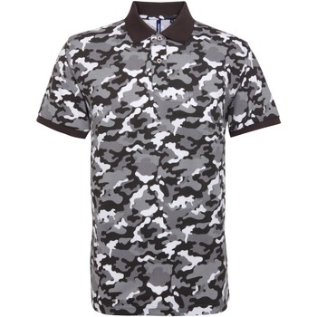 Vêtements Homme Polos manches courtes Asquith & Fox Camo Gris camouflage