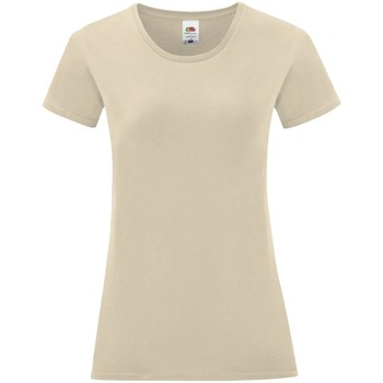 Vêtements Femme T-shirts manches courtes Fruit Of The Loom Iconic Beige