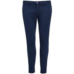 Vêtements Femme Chinos / Carrots Sols 01425 Bleu marine