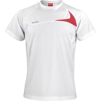 Vêtements Homme T-shirts manches courtes Spiro Performance Blanc/Rouge