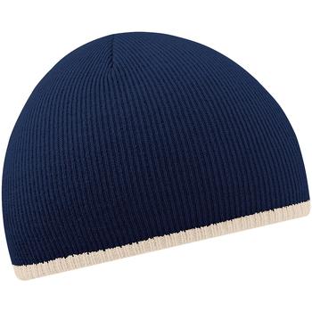 Accessoires textile Bonnets Beechfield Knitted Bleu marine/Gris