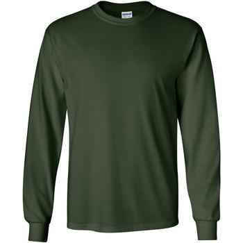 Vêtements Homme T-shirts manches longues Gildan Ultra Vert forêt