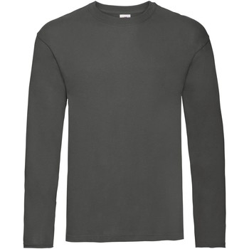 Vêtements Homme T-shirts manches longues Fruit Of The Loom Original Anthracite