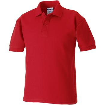 Vêtements Garçon Polos manches courtes Jerzees Schoolgear Pique Rouge