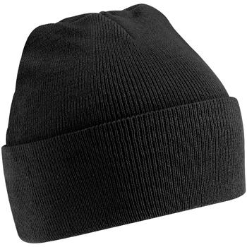 Accessoires textile Enfant Bonnets Beechfield Knitted Noir