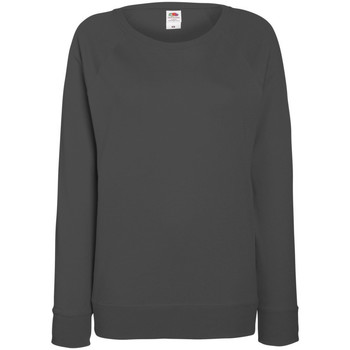 Vêtements Femme Sweats Fruit Of The Loom Raglan Graphite clair