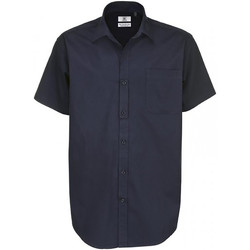 Vêtements Homme Chemises manches courtes B And C Sharp Bleu marine