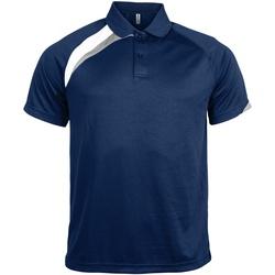 Vêtements Homme Polos manches courtes Kariban Proact Proact Bleu marine/Blanc/Gris