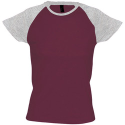 Vêtements Femme T-shirts manches courtes Sols Milky Bordeaux/Gris