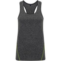 Vêtements Femme Débardeurs / T-shirts sans manche Tridri TR041 Noir chiné