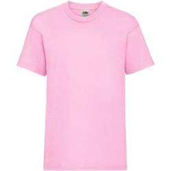Vêtements Enfant T-shirts manches courtes Fruit Of The Loom 61033 Rose clair