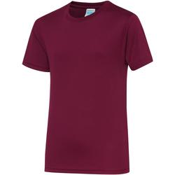 Vêtements Enfant T-shirts manches courtes Just Cool JC01J Bordeaux