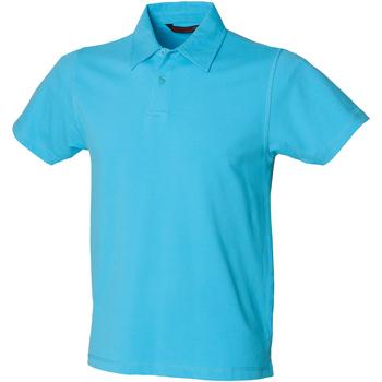 Vêtements Homme Polos manches courtes Skinni Fit Stretch Bleu surf
