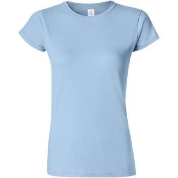 Vêtements Femme T-shirts manches courtes Gildan Soft Bleu clair