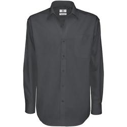 Vêtements Homme Chemises manches longues B And C Sharp Gris foncé