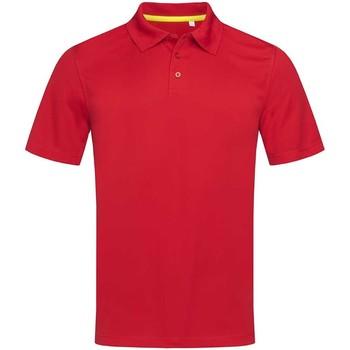 Vêtements Homme Polos manches courtes Stedman Mesh Rouge Foncé