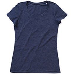 Vêtements Femme T-shirts manches courtes Stedman Stars Lisa Bleu marine chiné