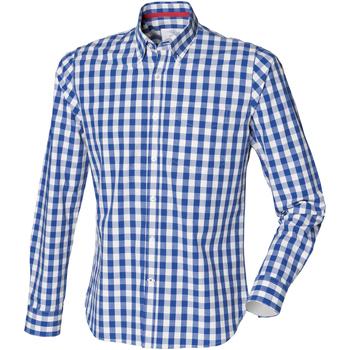 Vêtements Homme Chemises manches longues Front Row Checked Carreaux bleus