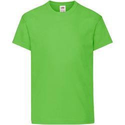 Vêtements Enfant T-shirts manches courtes Fruit Of The Loom Original Vert citron