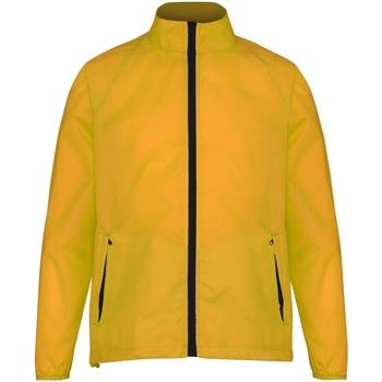 Vêtements Homme Coupes vent 2786 Contrast Jaune d'or/Noir