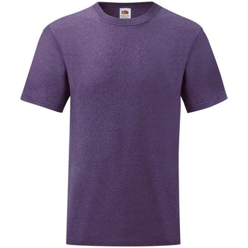 Vêtements Homme T-shirts manches courtes Fruit Of The Loom Valueweight Violet chiné