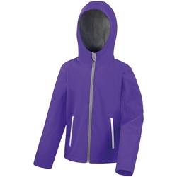 Vêtements Enfant Coupes vent Result R224JY Pourpre/Gris