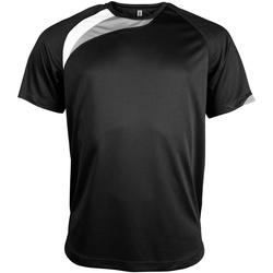 Vêtements Homme T-shirts manches courtes Kariban Proact Proact Noir/Blanc/Gris