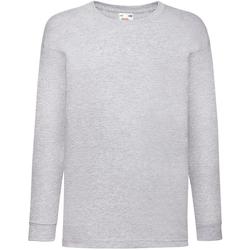 Vêtements Enfant T-shirts manches longues Fruit Of The Loom 61007 Gris marne