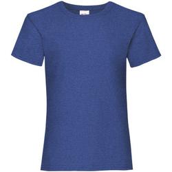 Vêtements Fille T-shirts manches courtes Fruit Of The Loom 61005 Bleu marine profond