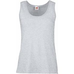 Vêtements Femme Débardeurs / T-shirts sans manche Fruit Of The Loom Lady-Fit Gris