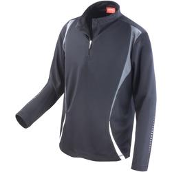Vêtements Vestes de survêtement Spiro Performance Noir/Gris/Blanc
