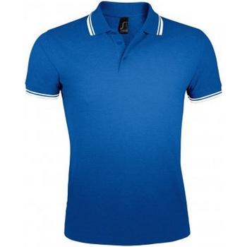 Vêtements Homme Polos manches courtes Sols Pasadena Bleu roi/blanc