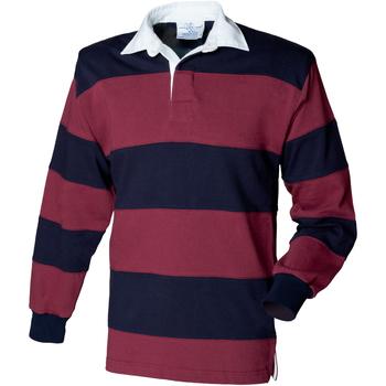 Vêtements Homme Polos manches longues Front Row Rugby Bordeaux/Bleu marine