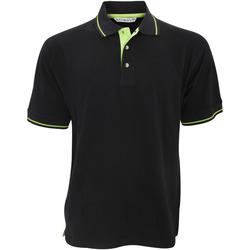 Vêtements Homme Polos manches courtes Kustom Kit Mellion Noir/Citron vert