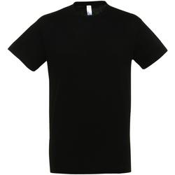 Vêtements Homme T-shirts manches courtes Sols Regent Noir