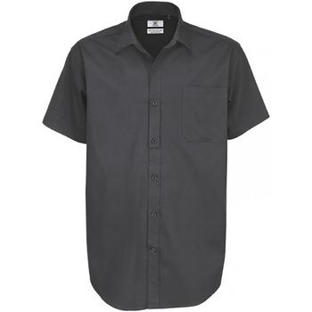 Vêtements Homme Chemises manches courtes B And C Sharp Gris foncé