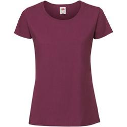 Vêtements Femme T-shirts manches courtes Fruit Of The Loom Premium Amarante