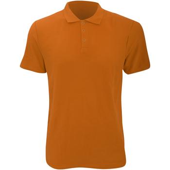 Vêtements Homme Polos manches courtes Anvil Pique Orange mandarin