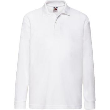 Vêtements Garçon Polos manches longues Fruit Of The Loom 63201 Blanc