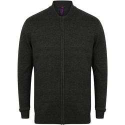 Vêtements Gilets / Cardigans Henbury Knitted Gris chiné