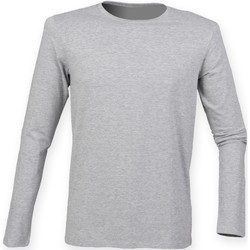 Vêtements Homme T-shirts manches longues Skinni Fit Stretch Gris