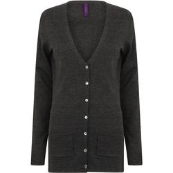 Vêtements Femme Gilets / Cardigans Henbury Fine Knit Gris marne