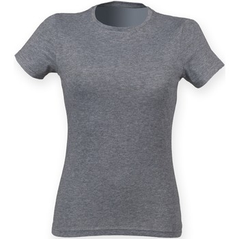 Vêtements Femme T-shirts manches courtes Skinni Fit Triblend Gris Triblend