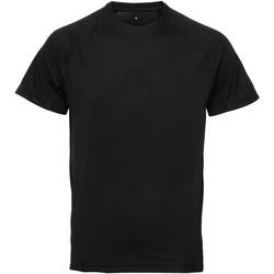 Vêtements Homme T-shirts manches courtes Tridri Panel Noir