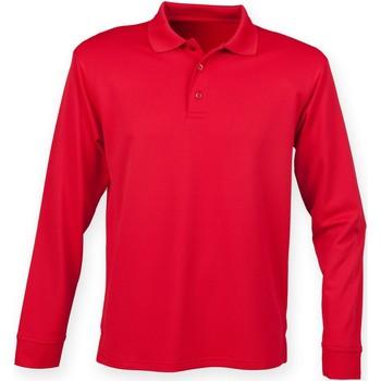 Vêtements Homme Polos manches longues Henbury HB478 Rouge