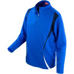 Vêtements Vestes de survêtement Spiro Performance Bleu roi/Bleu marine/Blanc