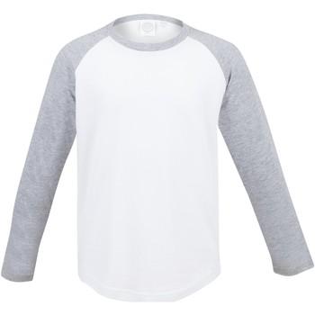 Vêtements Enfant T-shirts manches longues Skinni Fit Baseball Blanc/Gris