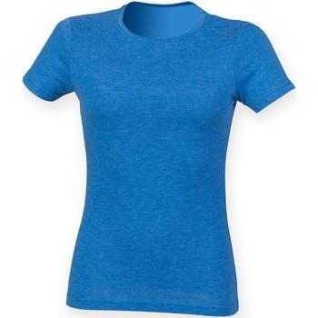 Vêtements Femme T-shirts manches courtes Skinni Fit Triblend Bleu Triblend