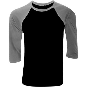 Vêtements Homme T-shirts manches longues Bella + Canvas Baseball Noir / gris